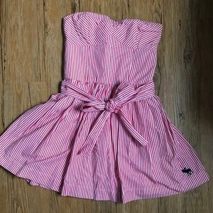 Abercrombie and Fitch red and white striped dress